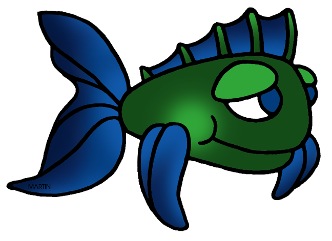 Green and Blue Fish